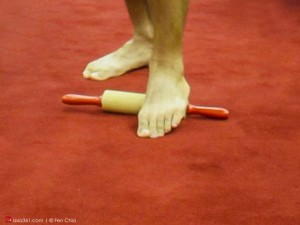 Don't forget the foot, which the entire body lies on.  Rub the fleshy underside on a rolling pin or a golf ball, which I find hits target areas better.