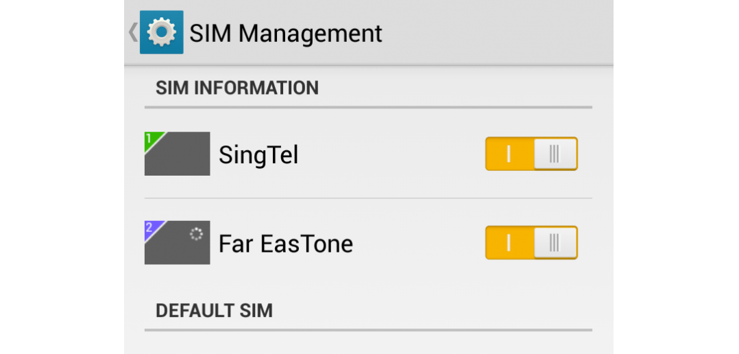 Android Kitkat gives the phone performance that it deserves. And oh, did I mention that it is a dual-sim model? It would have been rather handy when I go travelling in Taiwan end-May. Inserted are Singtel (Singapore) and Far EasTone (Taiwan) SIM cards.