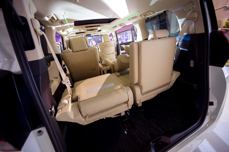 The back seats can be folded down for more storage space.