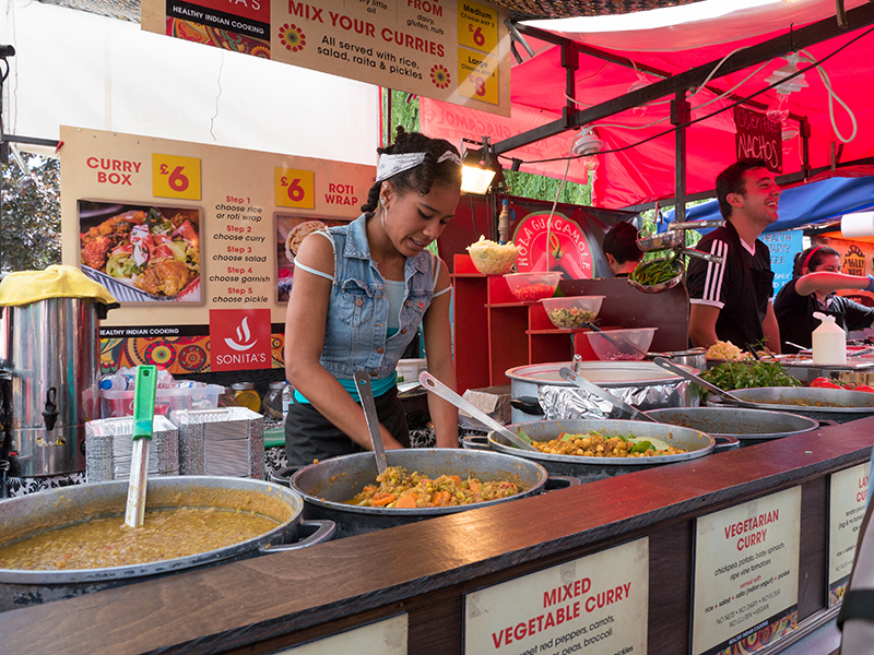 Be sure to try some of the street food in London. Photo © Marco Prati / Shutterstock