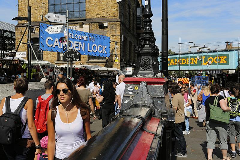 Camden Lock Market. Photo © Bikeworldtravel | Shutterstock.com