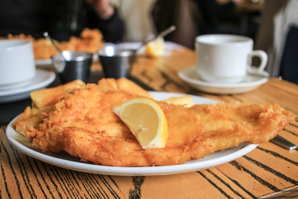 Try the English classic - fish and chips. Photo © JuliaT | Shutterstock
