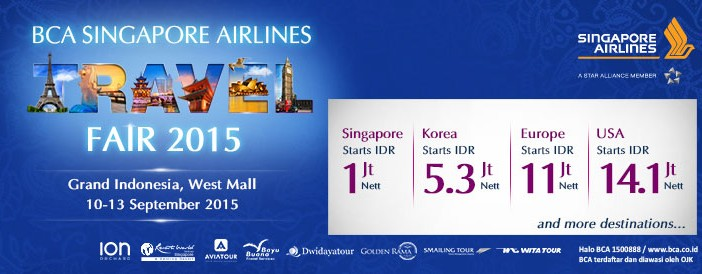 Bca Singapore Airlines Travel Fair 2015 Is Back In Jakarta