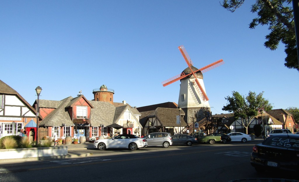 The town of Solvang is peppered with windmills