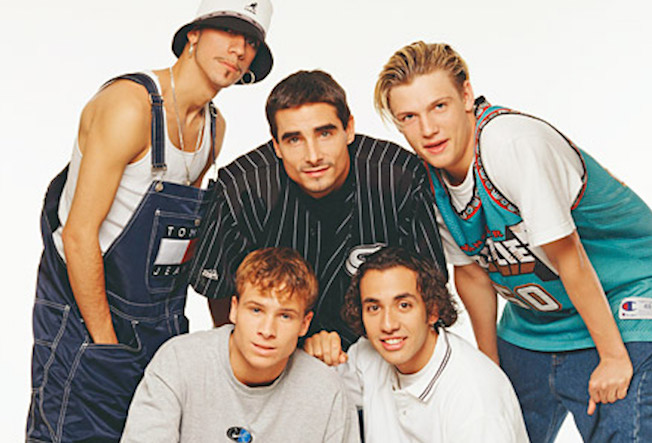 From Left: Front Row: A.J. McLean, Kevin Richardson, Nick Carter Back Row: Howie Dorough, Brian Littrell.