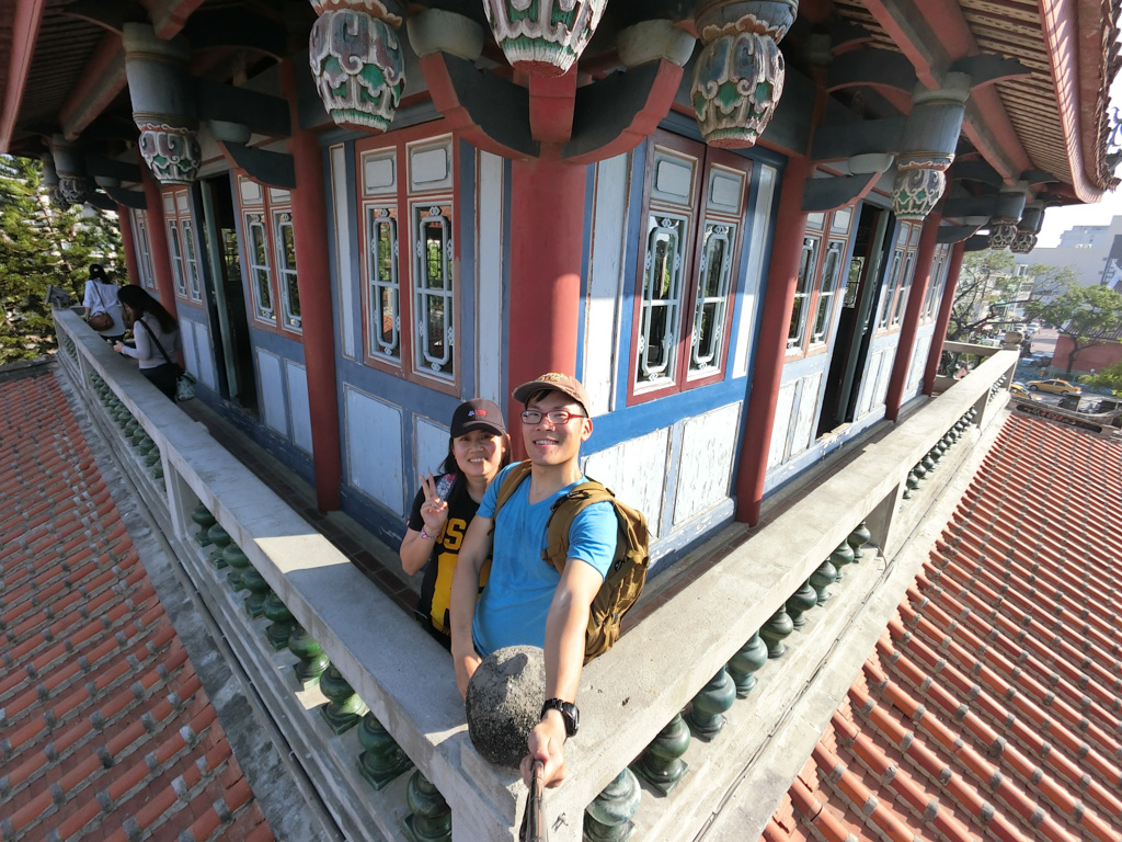 Author takes a selfie at Fort Provincia, Tainan. Photo © Justin Teo.
