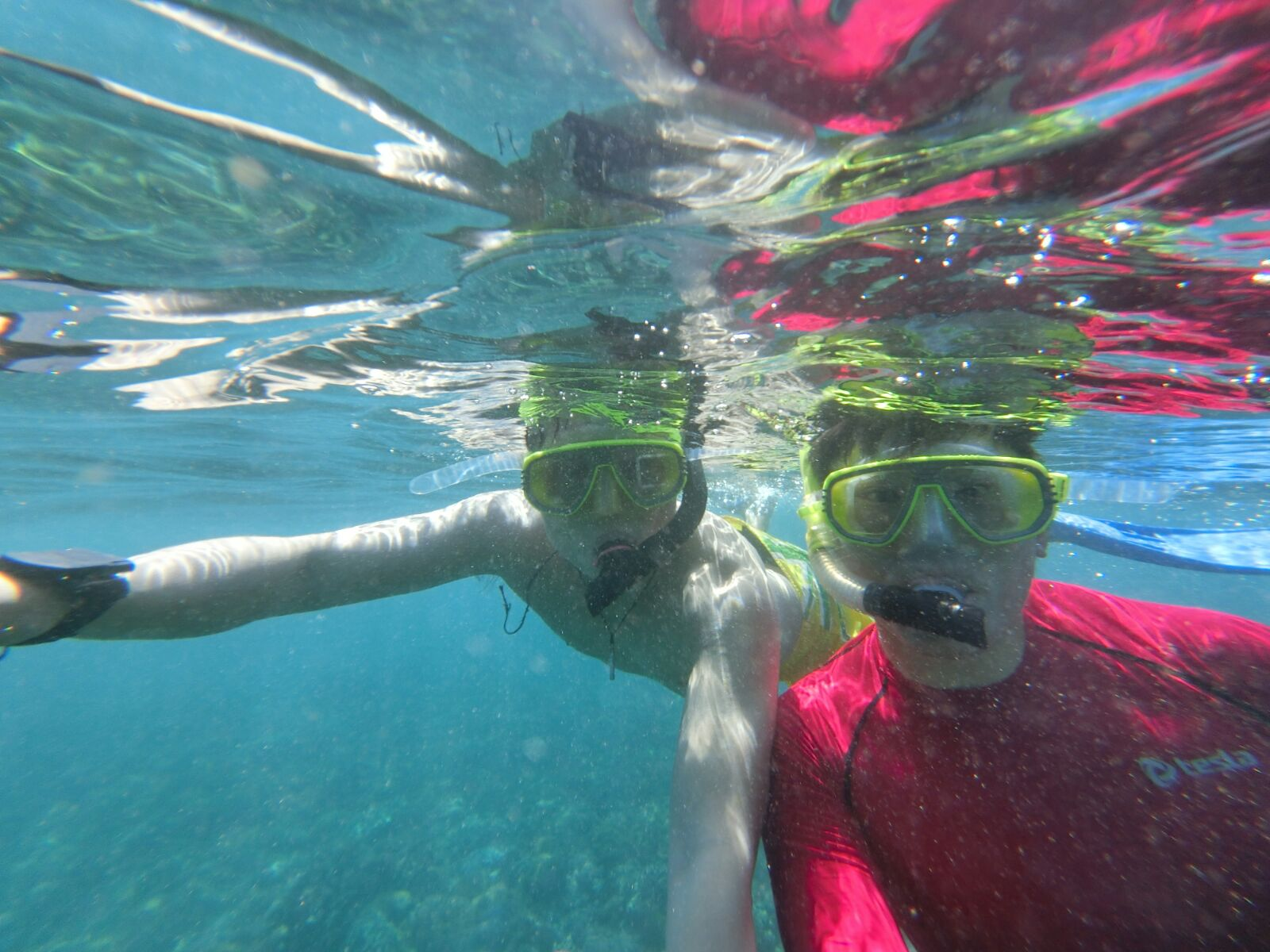 Snorkelling in Bali with the FR100. Photo credit to Keith Yuen, www.travelinspiration360.com