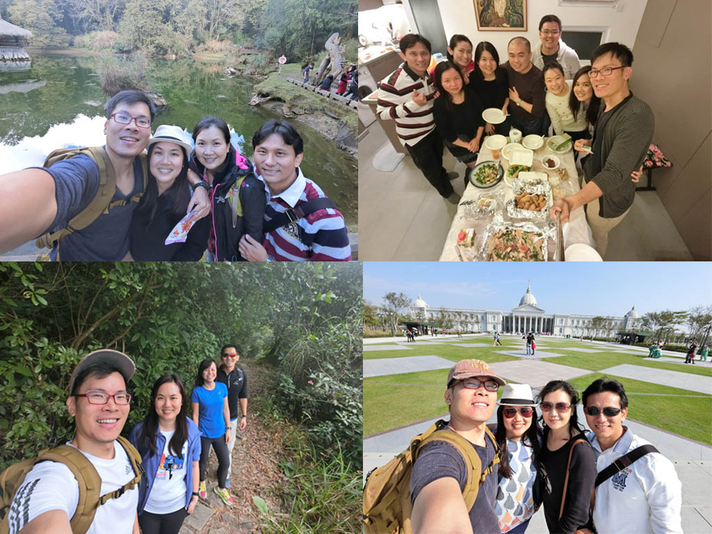A simple collage of wefies during the author's travel through Hong Kong and Taiwan. Photo © Justin Teo.