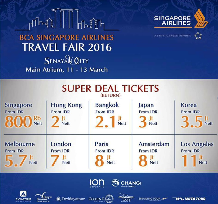 Singapore Airlines Bca Travel Fair Best Fares And X Krisflyer Miles Asia
