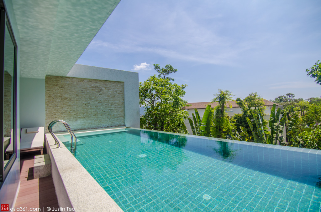 Private pool at the Carissa Villa at the Wyndham Sea Pearl Resort.
