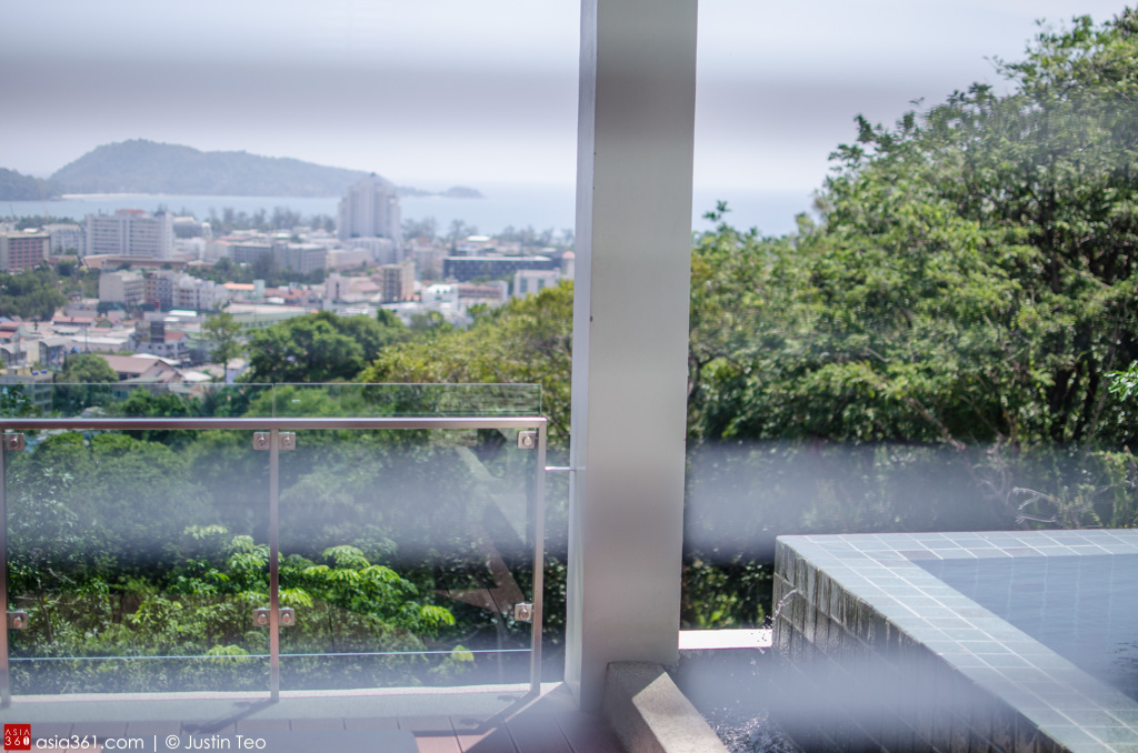 View of the Andaman Sea and Patong Bay from one of the Carissa Villa.