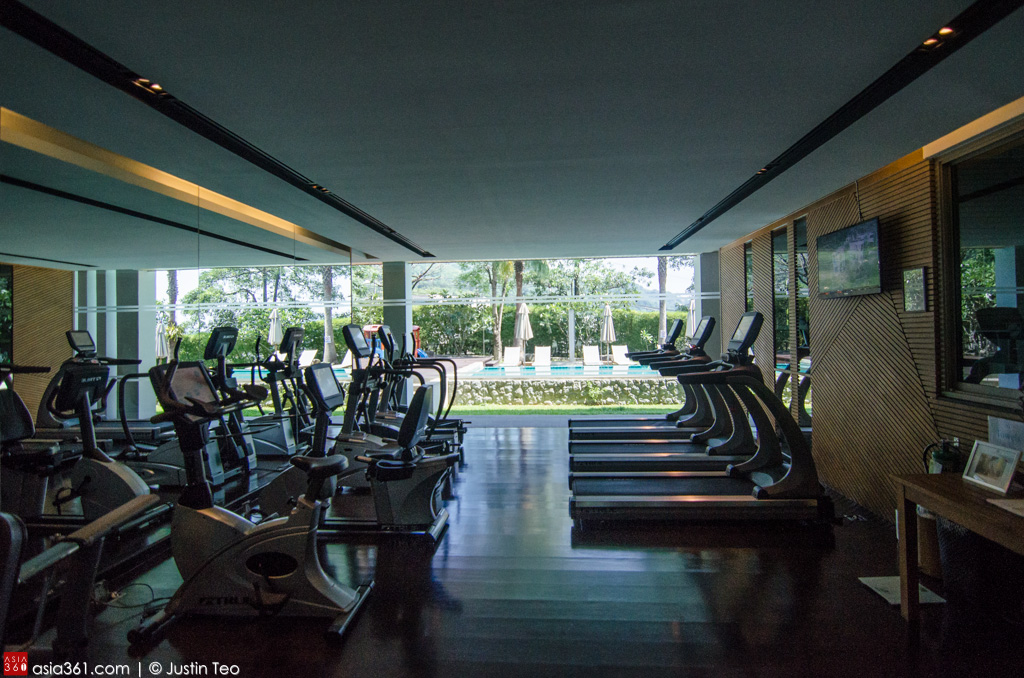 Fully equipped gym at Wyndham Sea Pearl Resort.
