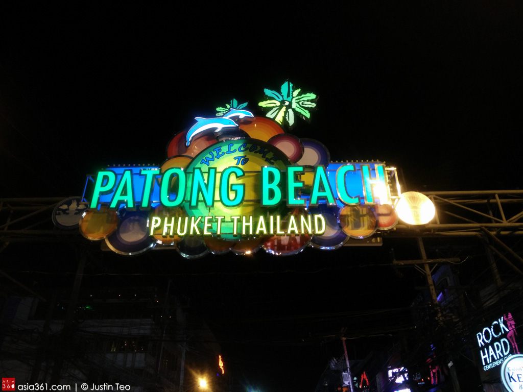 The beach front at Patong comes alive, especially Bangla Street.