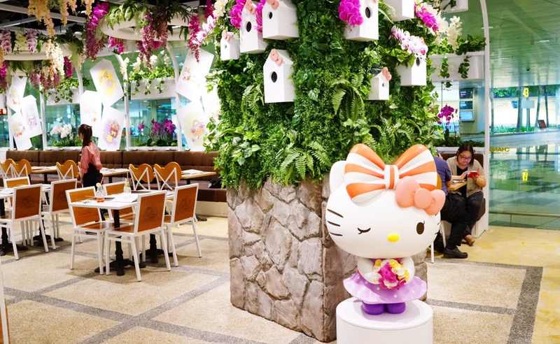 58e4899a4 You will get to notice that Singapore's national flower, orchids, are  mainly used to decorate the cafe. Therefore, the name of this Hello Kitty  cafe is ...