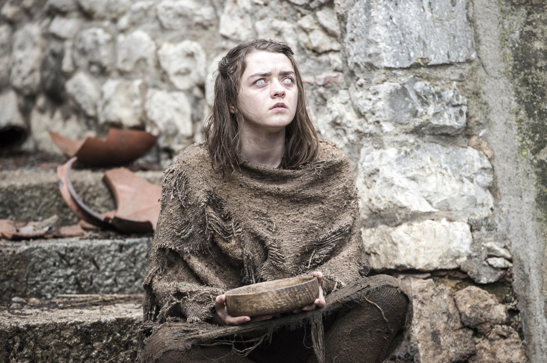 Arya Stark in Braavos (behind Gironia Cathedral). Photo: HBO