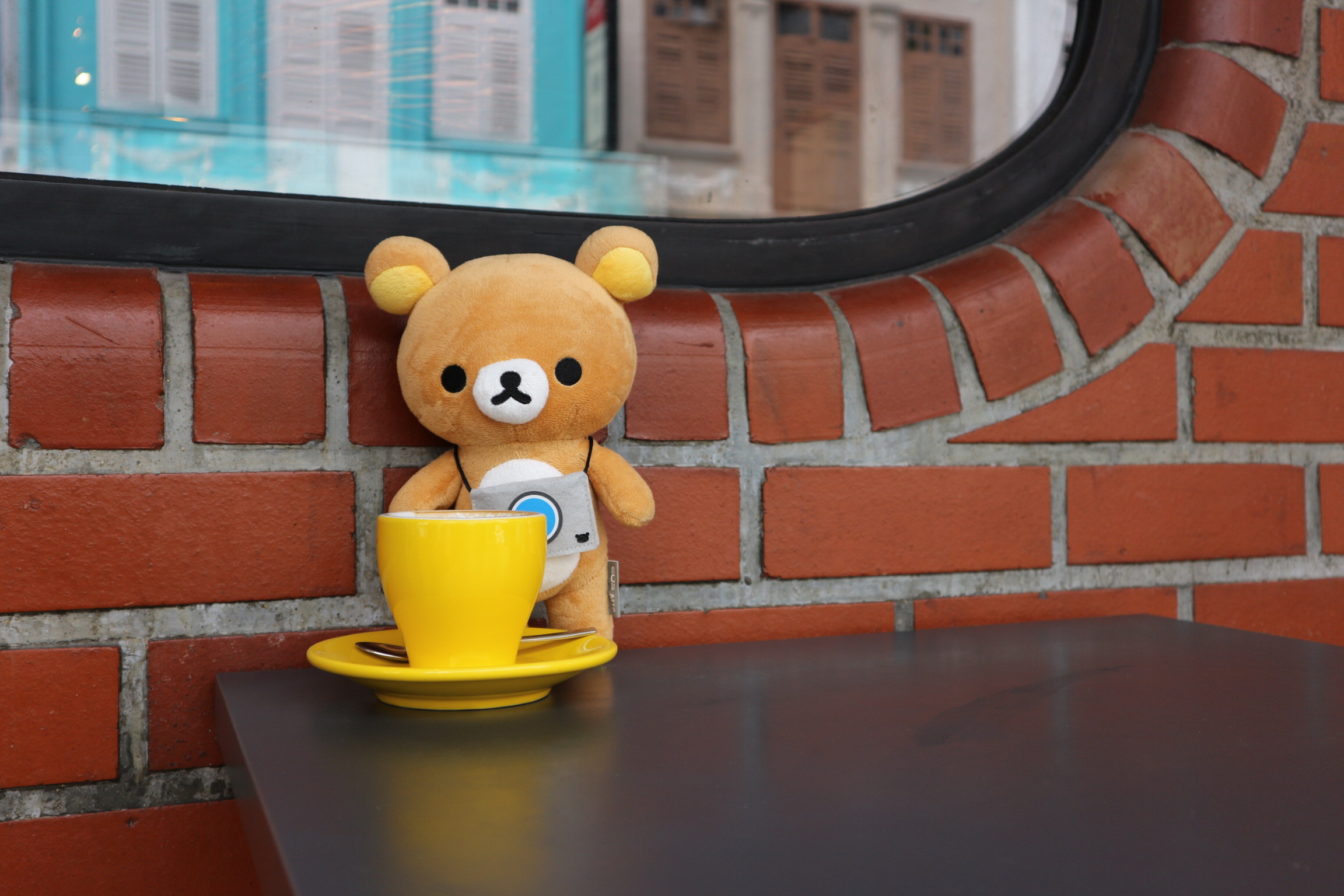 """Okay, all those posing is tiring. Now's my turn for a nice cup of chocolate latte."""
