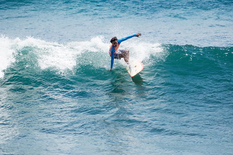 A surfer at Balagan Beach, Bali. Photo © Nadezda Murmakova | Shutterstock