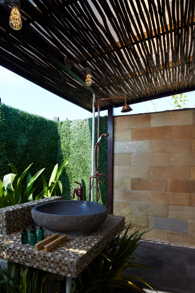 One of the attached open air bathroom, The Canopi. Photo courtesy of Treasure Bay Bintan.