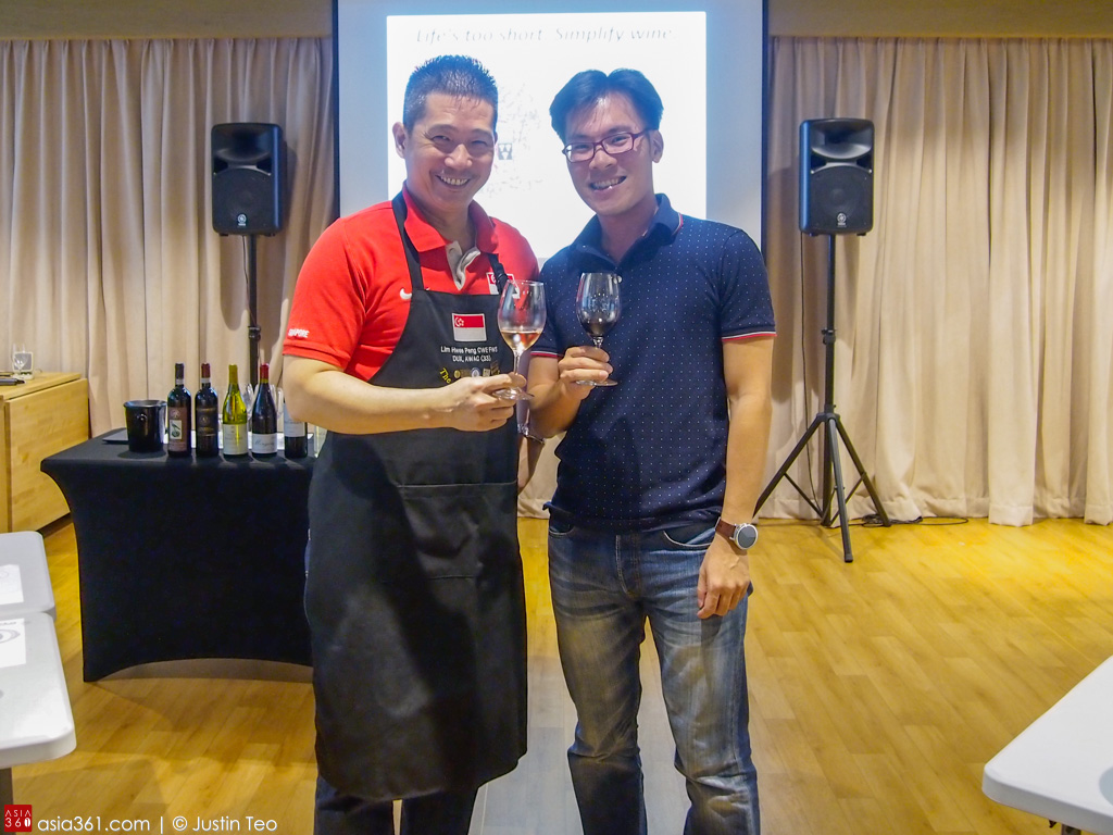 Mr Lim Hwee Peng's witty remarks and deep intimacy with european wines made the masterclass more fun than it should!