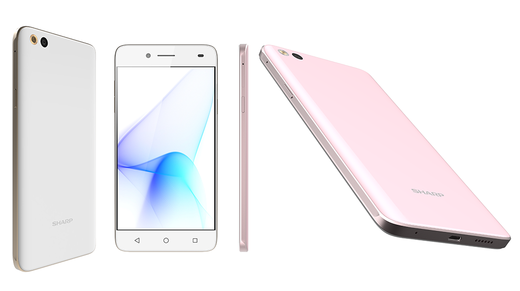 The SHARP MS1 retails at S$299 and comes in Pure Pink and Hanayome White.  Photo from SHARP Mobile Singapore.