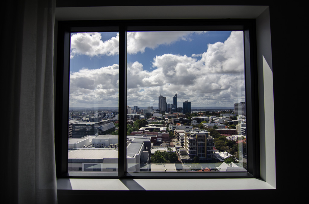 View from Sage West Perth Hotel. Photo © Justin Teo.
