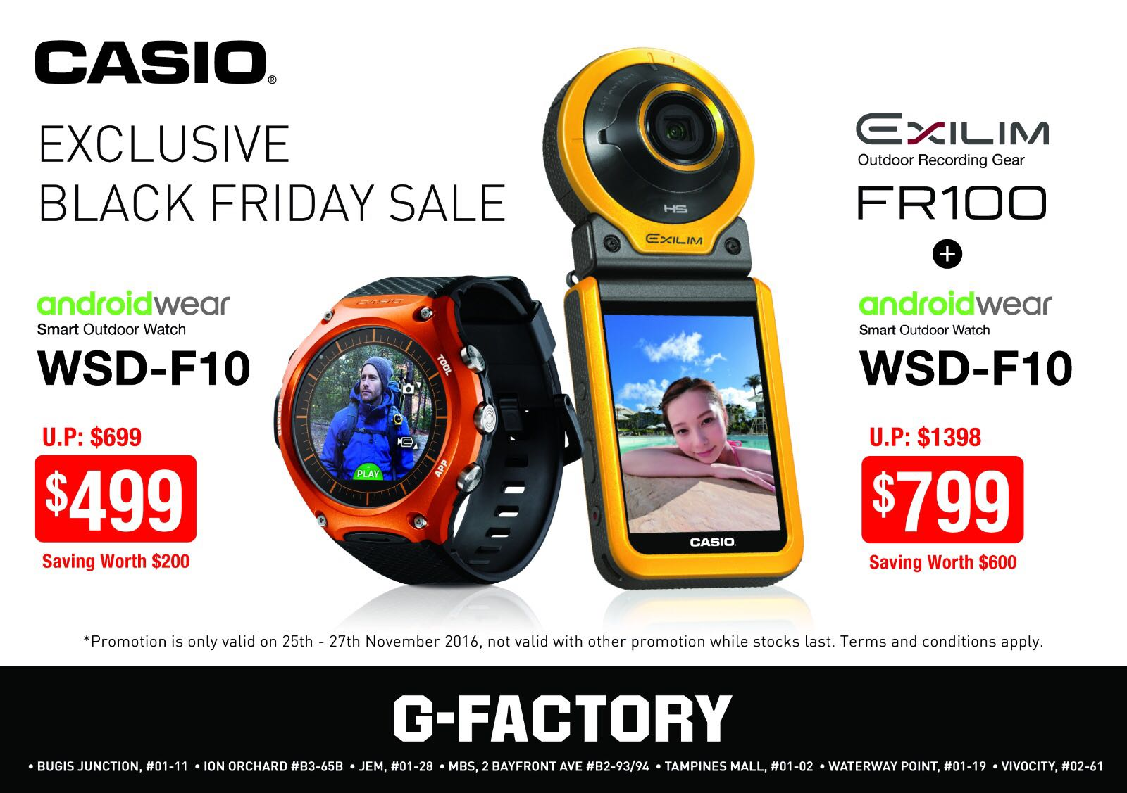 Grab the Black Friday sales offers from CASIO for three days only!