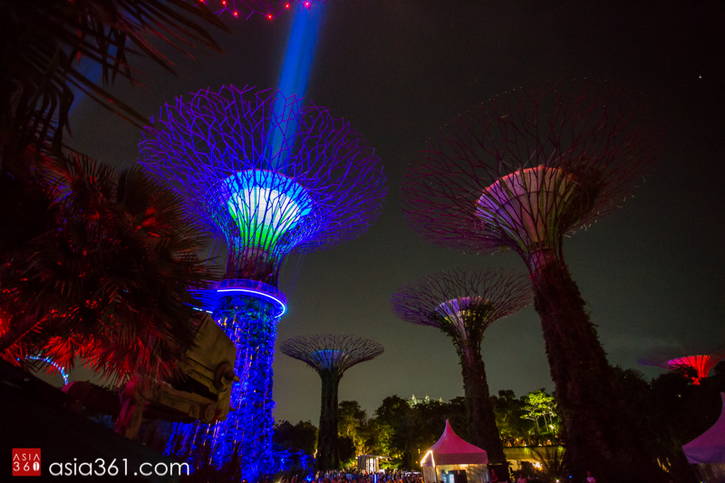 the main highlight is definitely the sabertrees installation the supertrees at gardens by the bay burst into a star wars themed symphony of lights and - Garden By The Bay Music