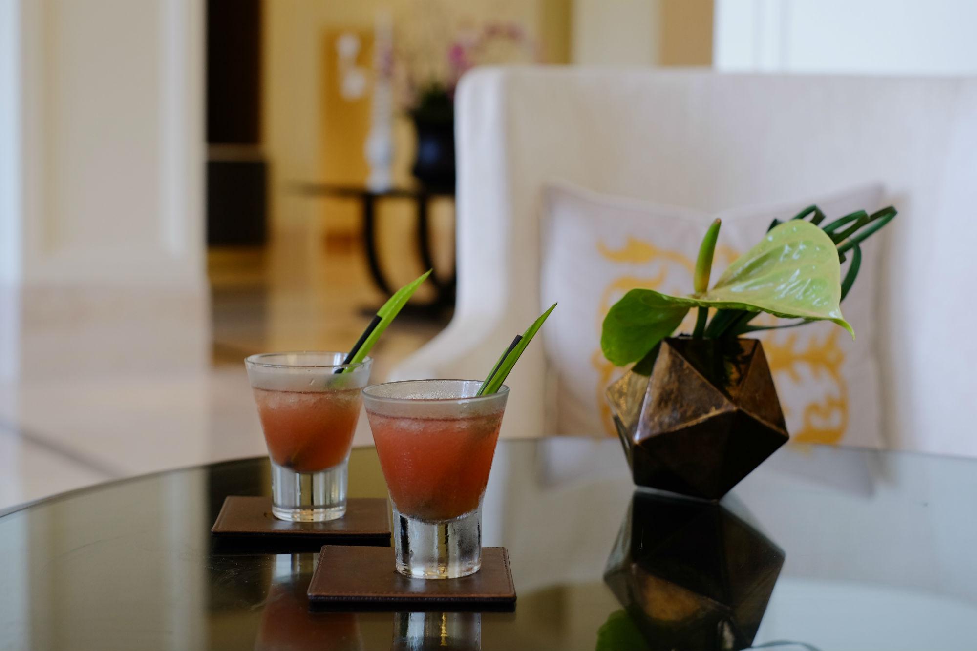 Welcome drink at St. Regis Langkawi
