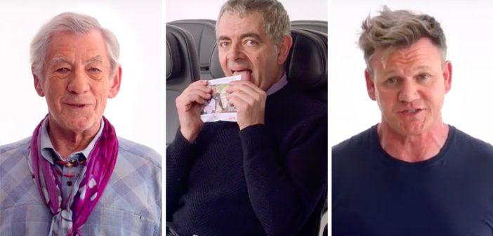 Watch Gordon Ramsay, Sir Ian McKellen and Rowan Atkinson in Star-Studded British Airways Flight Video