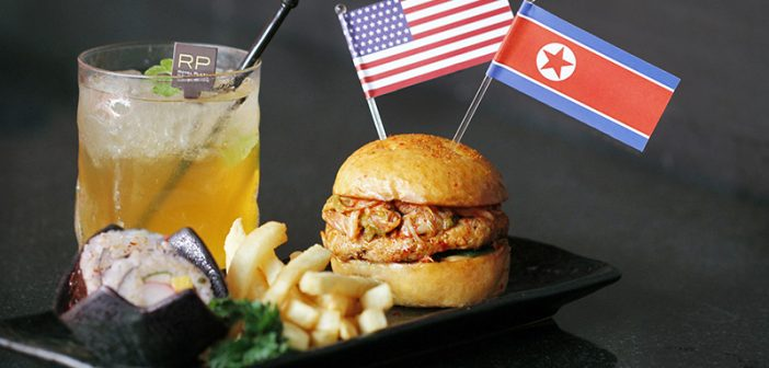 This Hotel Has Just Created a Trump-Kim Burger to Welcome the Two Leaders to Singapore