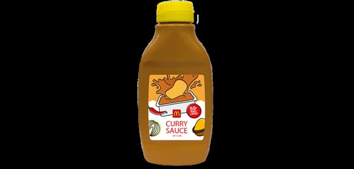 McDonald's Curry Sauce Bottle Makes a Fiery Return