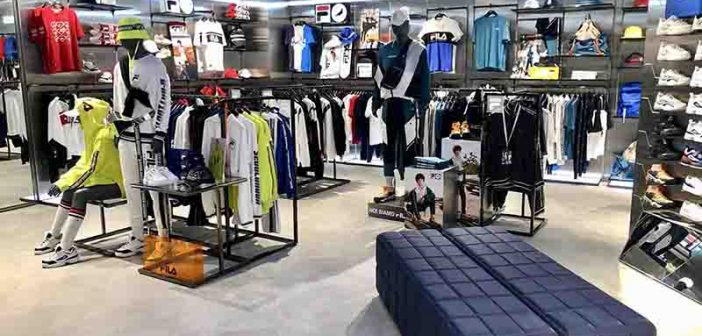 FILA Opens Its Biggest Store in Singapore at Jewel Changi Airport