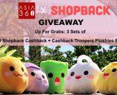 GIVEAWAY: 3 X $50 ShopBack CashBack and Cashback Troopers Plushies Set