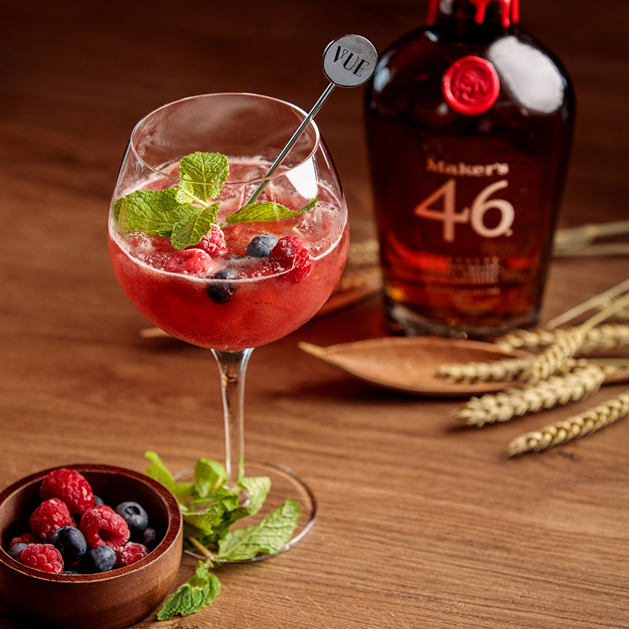 VUE Maker's Mark Berries Melody Cocktail